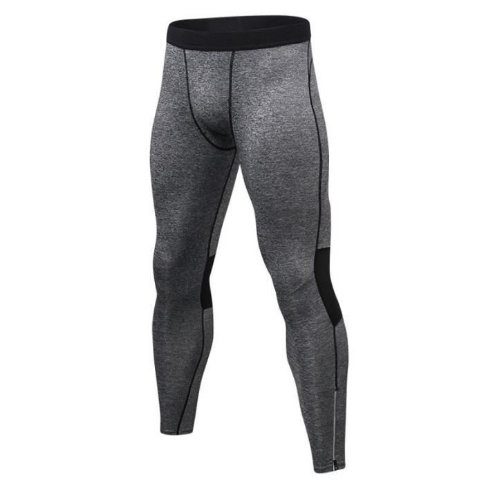 Legging de Sport Homme Compression Stretch Fitness Collant Running Séchage Rapide