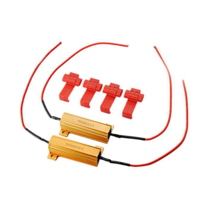 NEUFU 2x Résistance Fil Cable Wire Clip pr Ampoule LED 50W 6Ohm Clignotant Rapide Erreur