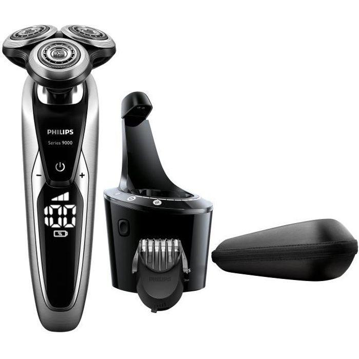 PHILIPS S9711/32 Rasoir électrique Séries 9000 + Tondeuse à barbe - Système de nettoyage Smart Clean - 100% Etanche