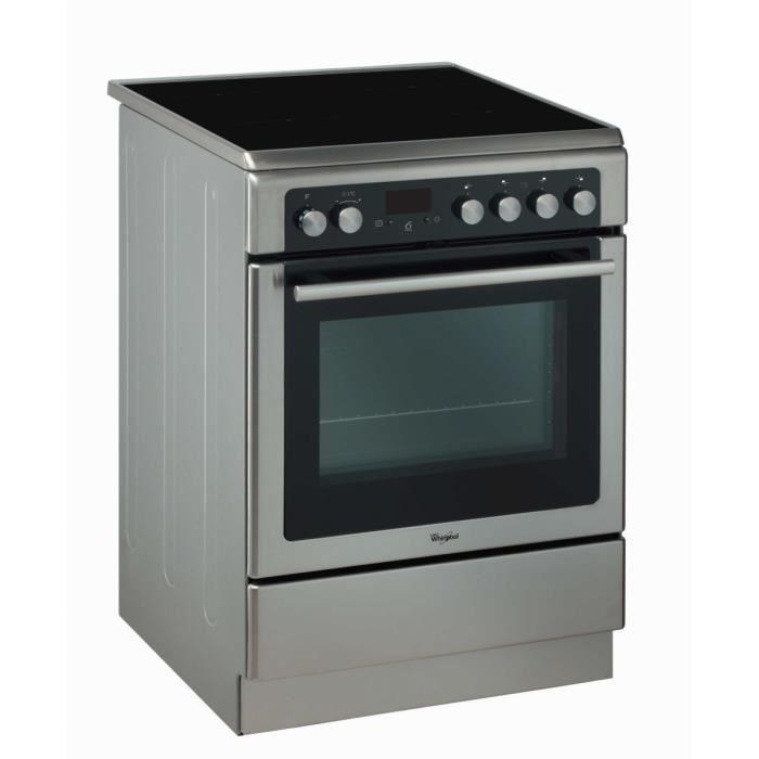 WHIRLPOOL AXMT 6434-IX - Cuisinière mixte - 3 gaz + 1 électrique - 57 L - A - L 60 cm - Acier inoxydable