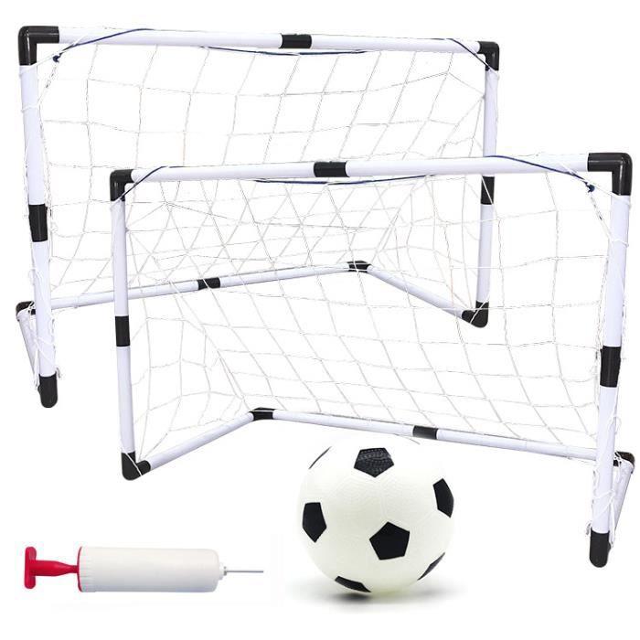 2 Ensemble de But de Foot avec Un Mini Football Pour Enfants 92cm x 61cm x 48cm