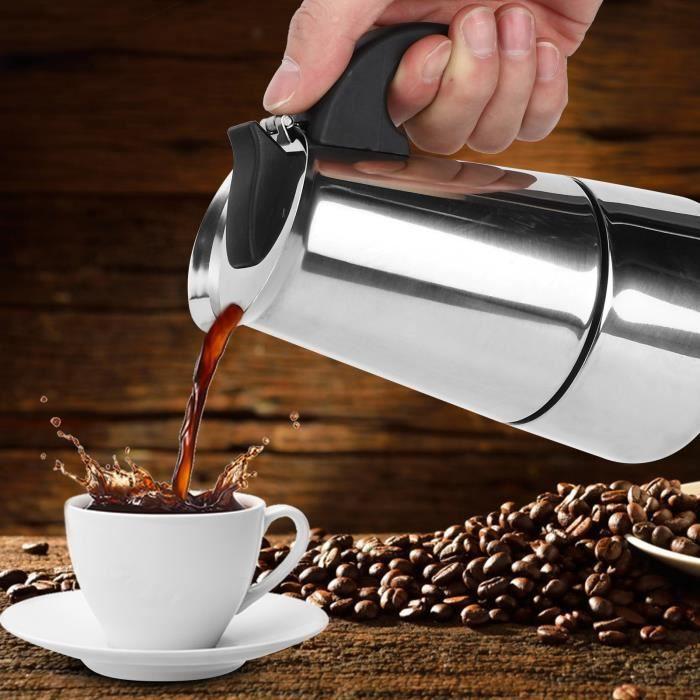200 ml Cafetière Portable Pot Moka Pot de bouilloire en acier inoxydable pour fournitures -CHD