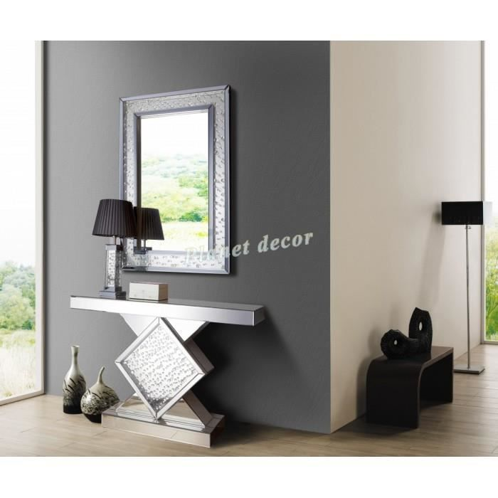 console en miroir design console miroir en verre tavolo l de deknudt achetez votre console. Black Bedroom Furniture Sets. Home Design Ideas