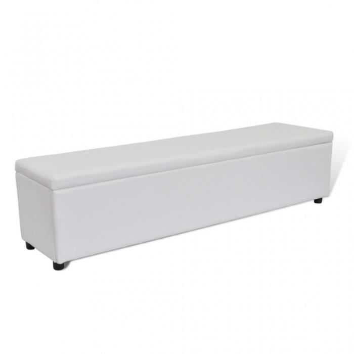 banquette banc coffre de rangement 179 cm xl blanc 3002004 achat vente banquette cdiscount. Black Bedroom Furniture Sets. Home Design Ideas