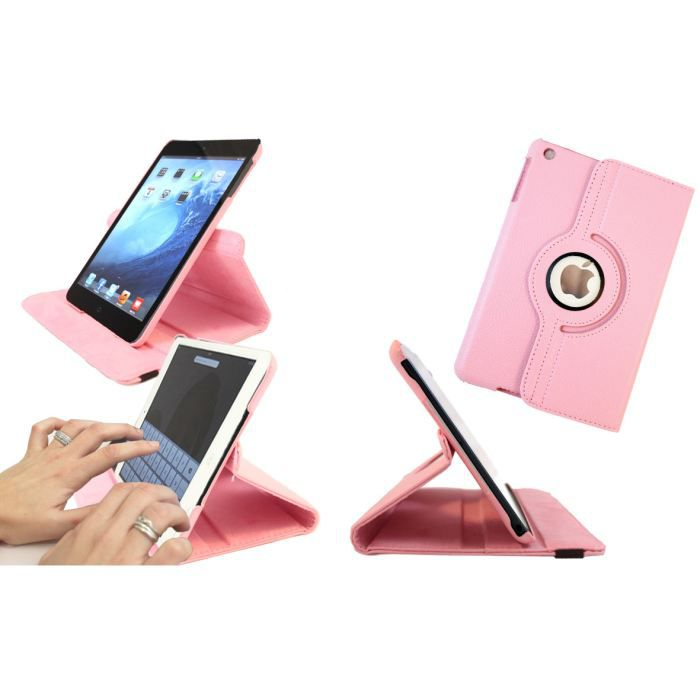 Housse de protection rotatif rose ipad mini prix pas for Housse protection ipad