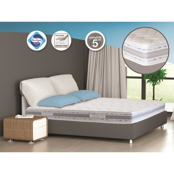 matelas m moire de forme m mor ves 140x190 cm achat vente matelas cdiscount. Black Bedroom Furniture Sets. Home Design Ideas
