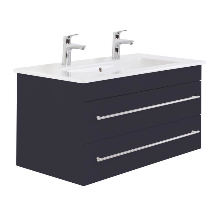 Villeroy & Boch Venticello 100 cm double vasque anthracite satiné ...