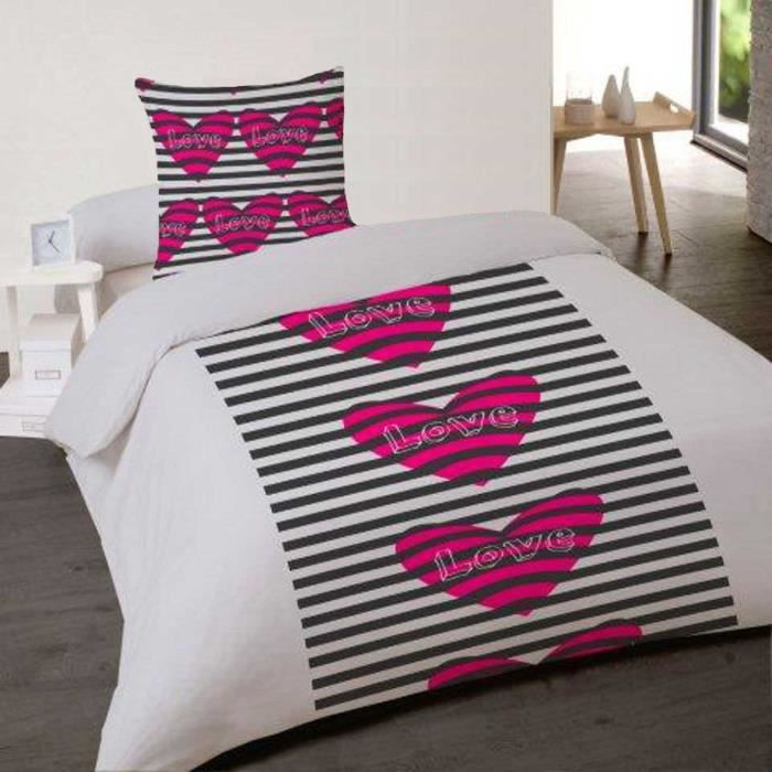 housse de couette 140x200 prison love 1 taie achat vente housse de couette cdiscount. Black Bedroom Furniture Sets. Home Design Ideas