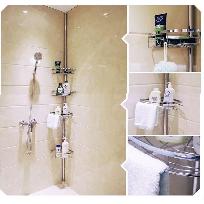 Rangement salle de bain métal