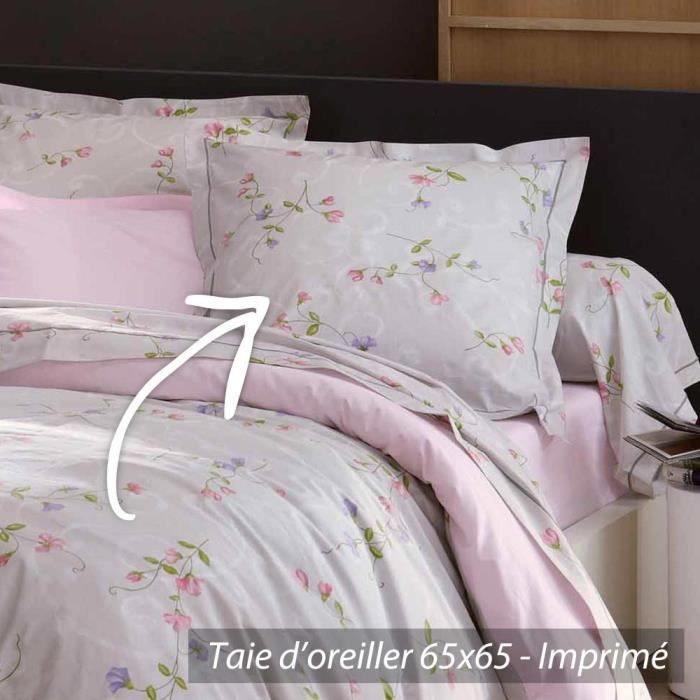 taie d 39 oreiller 65x65 cm percale pur coton senteur achat vente taie d 39 oreiller cdiscount. Black Bedroom Furniture Sets. Home Design Ideas