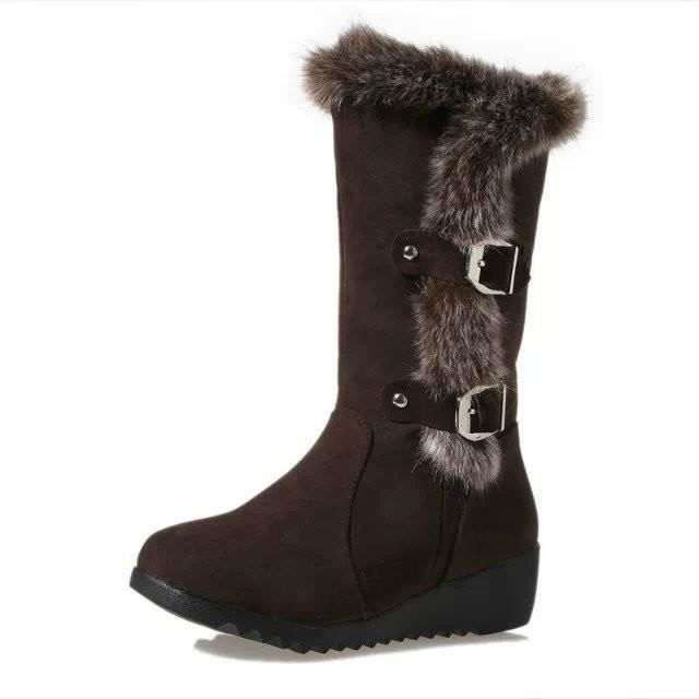 de Fourrure Epais Cuissardes Velours Femme en de Haute Bottes Confortable Bottine Chaud Neige Bottes Noël Boots Etanche OPXikuZ