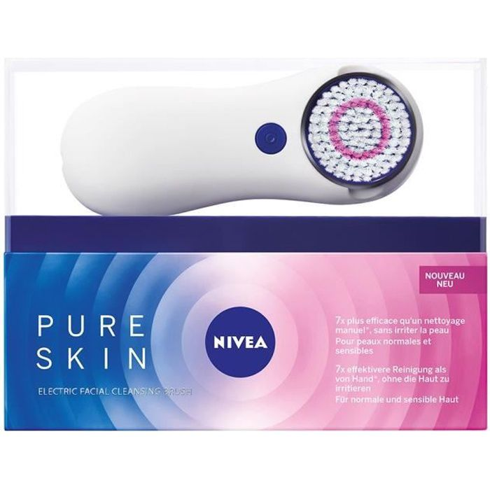 Photo de nivea-kit-brosse-nettoyante-visage-pure-skin-20-ml