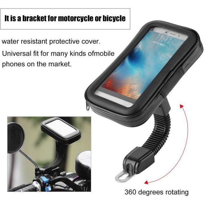 Cas de t/él/éphone de moto de scooter de moto /étui de support de t/él/éphone de r/étroviseur M code universel pour GPS pour t/él/éphone mobile