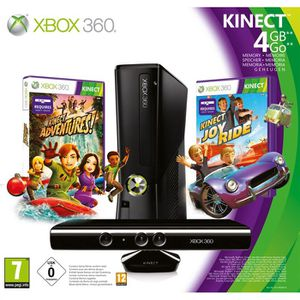 CONSOLE XBOX 360 X360 4GO KINECT+KINECT ADVENTURES+KINECT JOY RIDE