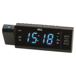 Radio réveil AEG MRC 4159P Radio-réveil avec Projection, écran