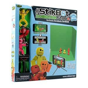 Stikbot Solid Color Green Action Figure Opaque Tournage Animation Toy skitbot Bot
