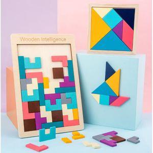 JEU D'APPRENTISSAGE Tetris puzzle jeunes enfants 2-3-4-6 ans jouet de