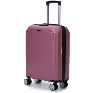 VALISE - BAGAGE LYS - Valise Cabine rigide rose 55cm ultra légère
