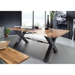 TABLE À MANGER SEULE Table à manger 220x100cm - Fer et Bois massif d'ac