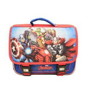 CARTABLE Cartable bleu et rouge Avengers de Marvel pour enf