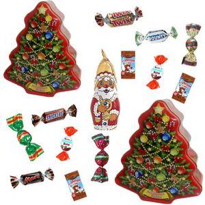 CONFISERIE DE CHOCOLAT Lot de 3 sapins de Noël garnis de 35 chocolats