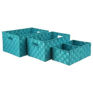 panier de rangement bleu achat vente panier de. Black Bedroom Furniture Sets. Home Design Ideas