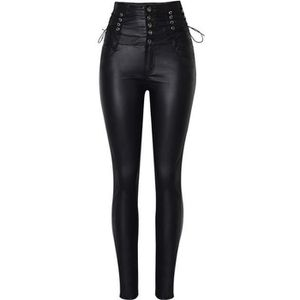 PANTALON Pantalon simili cuir femme élastique modèle  19-No