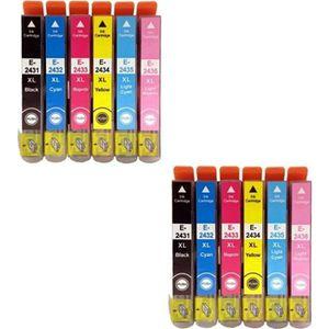 CARTOUCHE IMPRIMANTE PRESTIGE CARTRIDGE - Epson 24XL Lot de 12 Cartouch