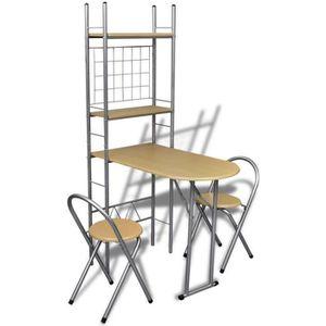 TABLE DE CUISINE  Ensemble table de petit-déjeuner avec 2 chaises, p