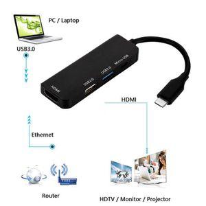 HUB HUB 1080P Type-C vers USB2.0 / USB3.0 / HDMI / Mic