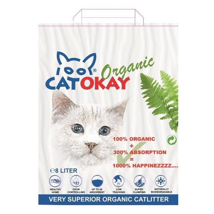 VADIGRAN Litière organique CatOkay - 8L - 4,5 kg - Pour chats
