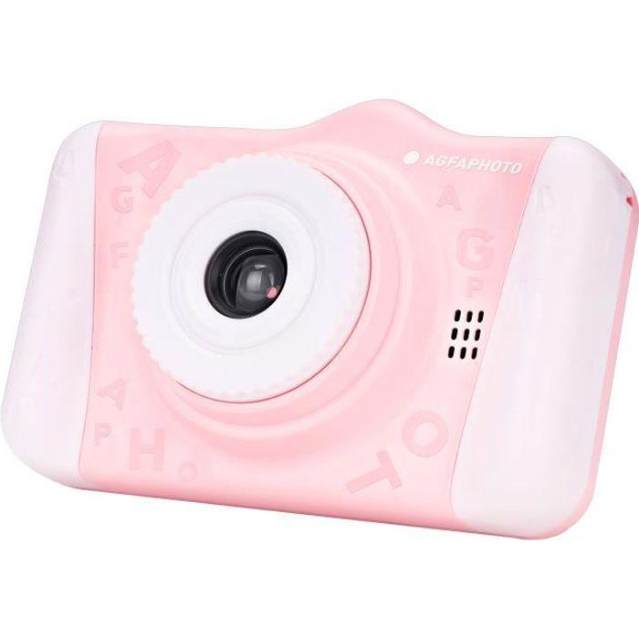 AGFA PHOTO Realikids Cam 2 - Appareil Photo Numérique pour Enfant (Photo, Vidéo, Écran LCD 3.5'', Filtres photos) - Rose