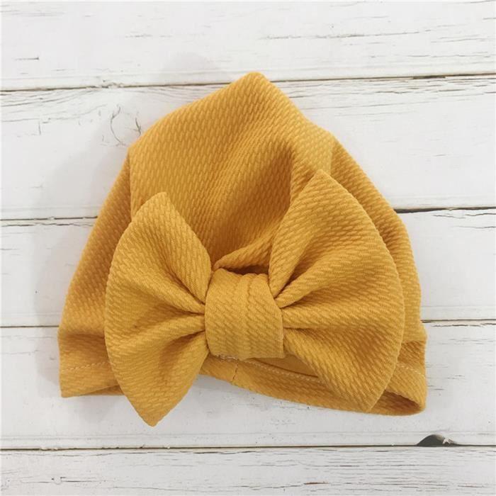 Soins bébé0-6 mois bébé mignon chapeau unisexe solide élastique Big Bow Design Hat XLP90628694YE_YOU