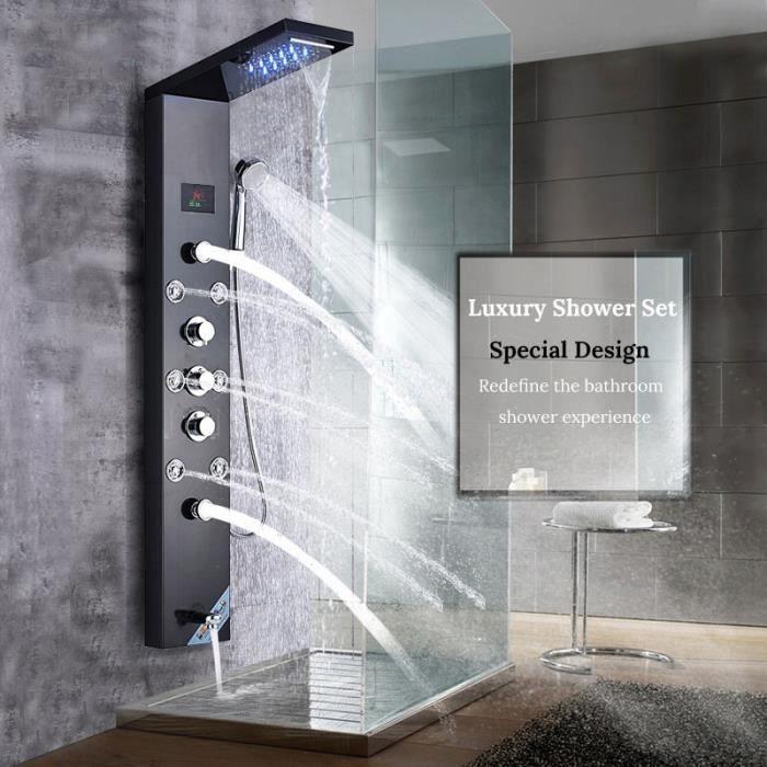 Colonne de douche conduit led système de douche légère