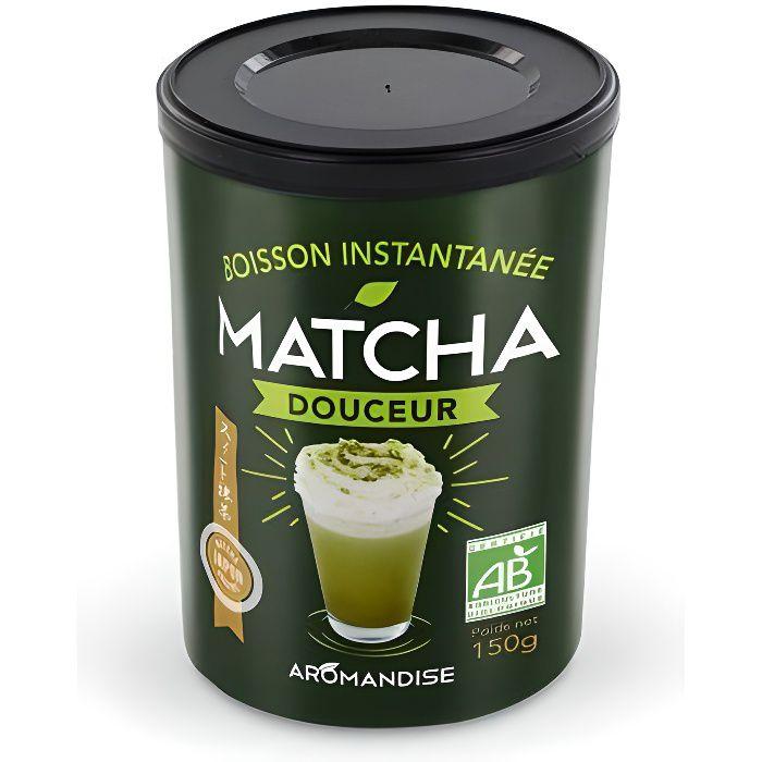 Vous aimez les latté et les saveurs du thé Matcha? Découvrez ce Matcha biologique prêt à déguster et délicatement sucré au sucre de