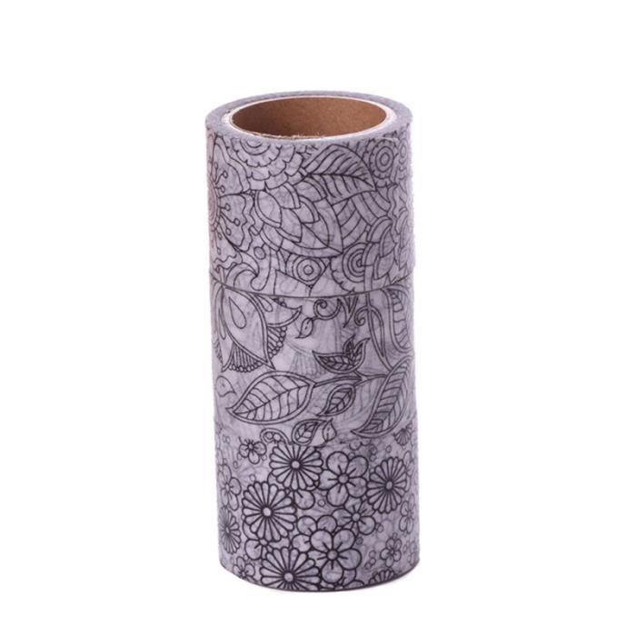 3 pièces bandes de papier bricolage noir déchirure créative facilement Washi adhésives pour revues APPAREIL PHOTO INSTANTANE