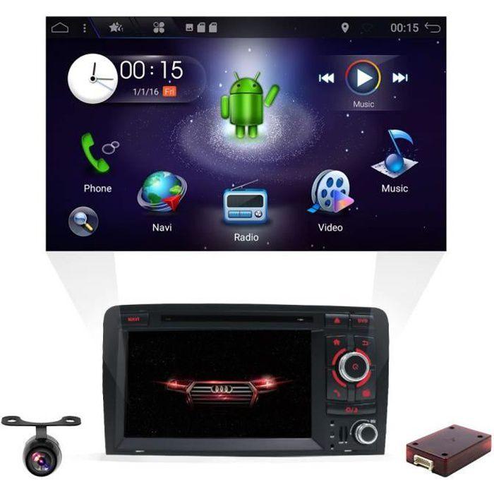 Android 8.1 Double DIN Autoradio pour Audi A3 2003–2011, autoradio avec en Dash GPS Système de Navigation , YUNTX véhicule Radio