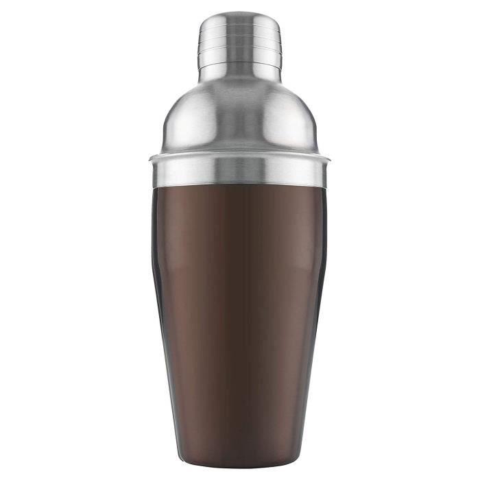 Vacu Vin 78425606 Cocktail Shaker Inox Bronze 9 x 9 x 21 cm