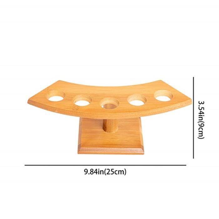 Station de sushi en bambou - Cônes de glace, présentoir en bois, buffet de service, porte-plateau, table - Modèle: 5 - WMGJMXA03295