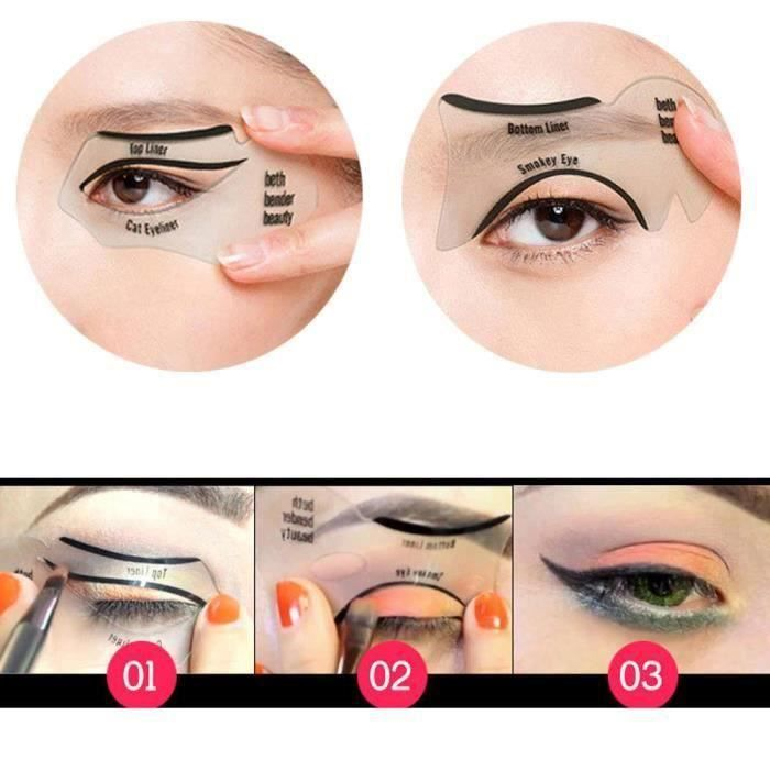 YM 1pair Guides Eyeliner Cat facile Maquillage rapide outil Eye-liner Pochoirs Modèles - YMTNS903A3433