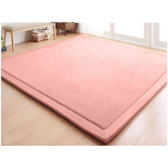 Tapis d'éveil,Nouveau 2CM épais tapis de jeu corail polaire couverture tapis enfants bébé rampant tatami tapis - Type 80cm 200cm #F