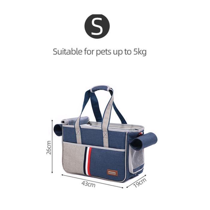 Sac de transport,Sac à main bandoulière pour petits animaux Sac support d'animaux pour chiens chats, sac de Transport - Type Small