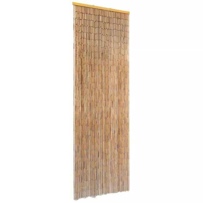 Rideau de Porte en Bambou Contre Insectes 56*185 cm