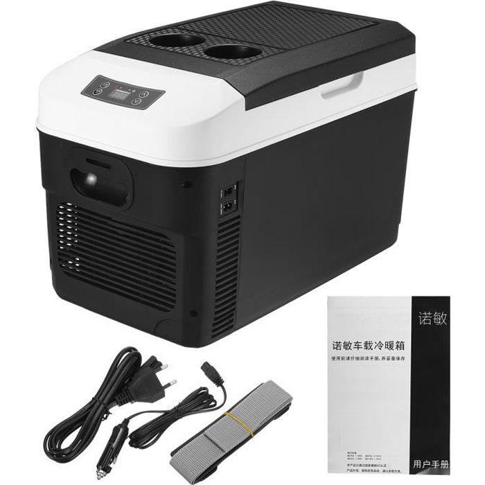 20L Mini Réfrigérateur Pour Vehicule Portable Congélateur Refroidissement Dispositif 12 V Camping Réfrigérateur Noir 20L