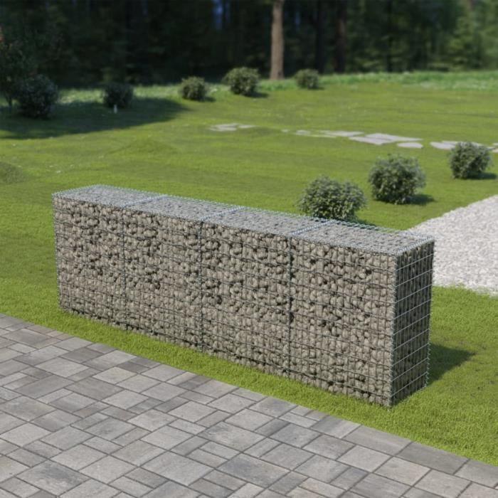 Rainbowin® Mur en gabion avec couvercles Acier galvanisé 300 x 50 x 100 cm