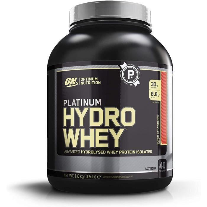 Optimum Nutrition Hydro Whey, Whey Protéine Isolate Hydrolisé en Poudre pour Musculation, Source Naturelle de BCAA, Saveur Fra ,107