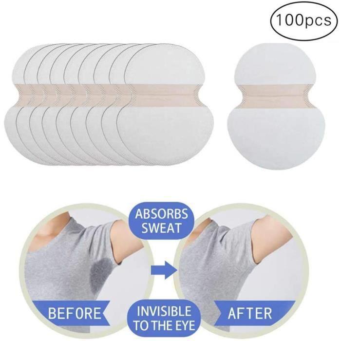 100pcs Coussinet Anti Transpirant à jetables, lutte contre l'hyperhidrose pour hommes femmes, accessoires personnels