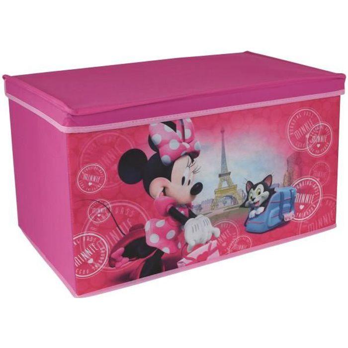 Fun House Disney Minnie paris coffre a jouets pliable pour enfant