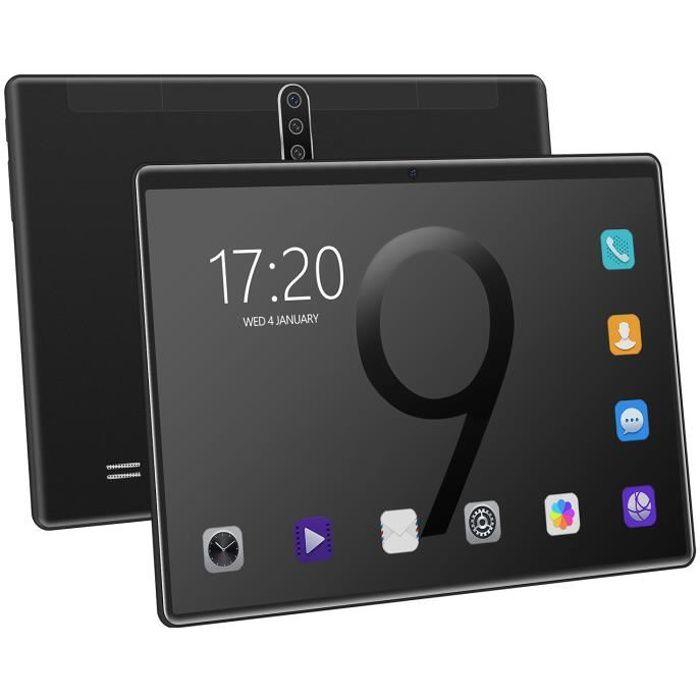 10,1 pouces 6 Go de RAM 128 Go de ROM Android Tablette PC Noir