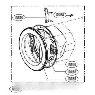 Hublot complet pour lave linge LG ADC33666401